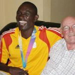 David Rudisha and Fr Colm O'Connell